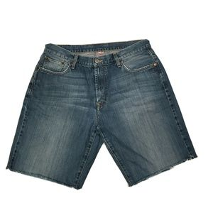 Lucky Brand Blue Dungarees Shorts Size 34